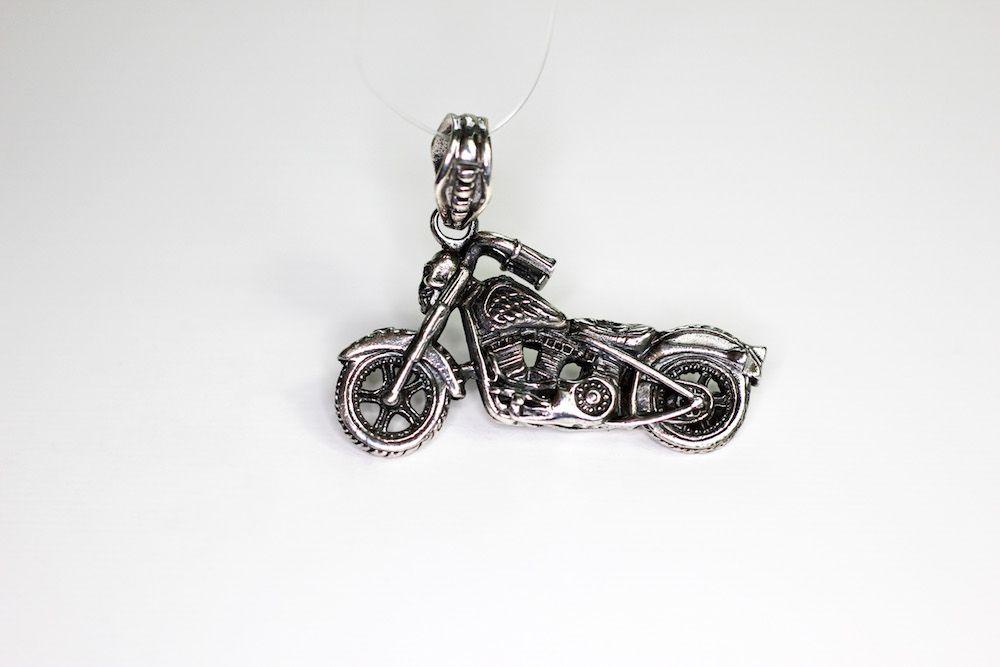 anh nger f r halskette harley motorrad mit totenkopf biker metal skull massiv silber 925. Black Bedroom Furniture Sets. Home Design Ideas