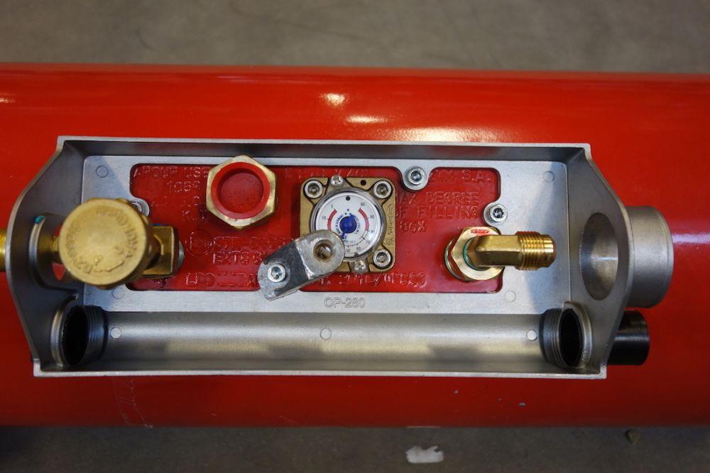 Wohnmobil Gastank Campinggastank Brenngastank 30 Liter 270X607mm